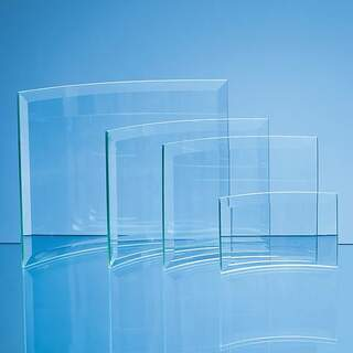 13.5cm x 19cm x 5mm Jade Glass Bevelled Crescent