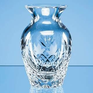 12cm Lead Crystal Panelled Bud Vase