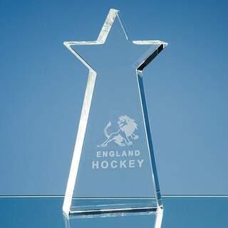 17cm Optical Crystal Statue Star Award