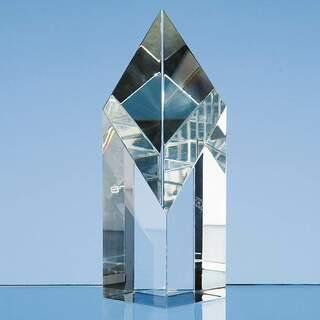 12.5cm Optical Crystal Sloping Diamond