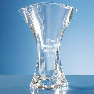 24.5cm Crystalite Flared Orbit Vase