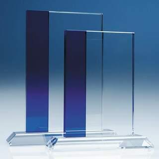 19cm Optical Crystal Blueline Rectangle