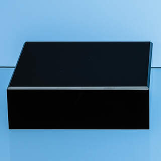 7.5cm Onyx Black Optical Crystal Square Base