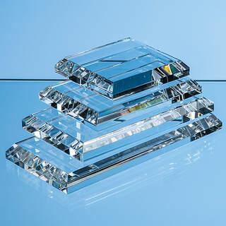 7.5cm x 7.5cm Clear Glass Base